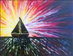 Psychedelic Sailboat Sunset! (OPEN)