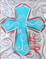 Pastel Scroll Cross