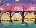 Van Gogh's Sunrise Over the Bridge