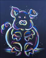 Family Summer Fun: Neon Piggy- or Kitty, same room
