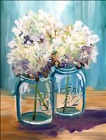 Coffee & Canvas! Happy Hydrangeas!