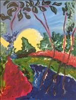 Kids Abstract Landscape, Kidz & Kanvas Ages 7 & up
