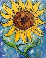 SATURDAY HAPPY HOUR: *NEW ART* Vibrant Sunflower