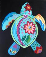 Kids Camp~1 Day FUN ART~ Sea Turtle Sihouette