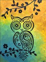 Family Fun: Paisley Owl (Customize!) $30