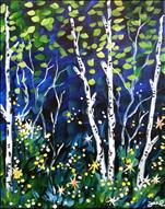 SUNNY BIRCHES with real lights (13-ADULT)