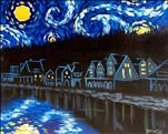 "Van Gogh inspired ""Starry Night"" Boathouse Row"