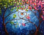 Love Trees at Night | Single Canvas