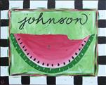 COFFEE & CANVAS: Monogram Watermelon