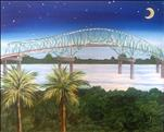 NEW ART! Night Bridge in Florida