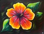 Coffee & Canvas- Vibrant Hibiscus