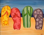 ALL AGES - Summertime Flip Flops (CUSTOMIZE!)