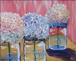 COFFEE & CANVAS: Happy Hydrangeas on Pink
