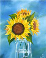 Coffee & Canvas Save $5 Country Sunflowers