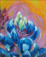 Abstract Bluebonnet