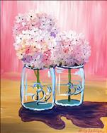 Happy Hydrangeas on Pink