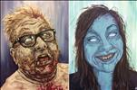 PAINT YOUR OWN ZOMBIE PORTRAIT