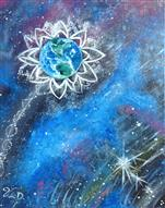 Cosmic Earth Flower!  Double Paint Points!