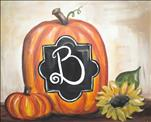 Manic Monday $10 Off - Monogram Pumpkin