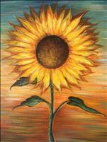 Sunflower on Sunset