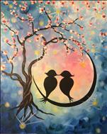 Star Crossed Love Birds SINGLE CANVAS