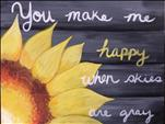 **COFFEE & CANVAS** You Make Me Happy ($10 off)