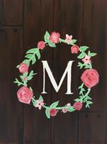 Felisha's Rustic Monogram Wreath