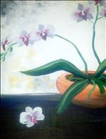 Coffee and Canvas - Save $5 An Orchid in view