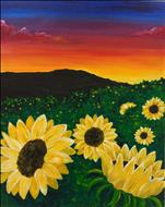 Sunflowers at Sunset - Adults Only