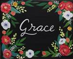 Personalized Floral Sign*