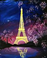 Paris Under a Pink Moon - Eiffel Tower