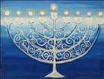Sparkling Menorah *Add Twinkle Lights*