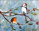 DOUBLE PAINT POINTS - Winter Birds