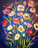 Blue Floral Painting with a Purpose!