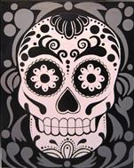 Retro Sugar Skull (Adults 18+)
