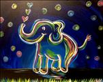 Neon Elephant! Kids Early Out Painting!