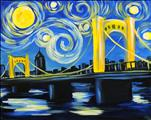 Starry Night Over Rachel Carson Bridge