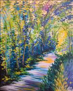 Large Canvas! Van Gogh's Vibrant Forest