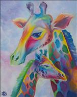 *NEW ART* Pastel Giraffes