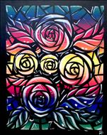 Stained Glass Roses ADULTS ONLY