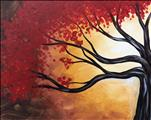 Red Blossoms in Fall - Single Option $37