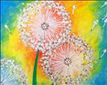COFFEE & CANVAS $25! Vibrant Dandelion