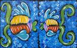 Fishy Family - Paint 1 or the Set - ALL AGES
