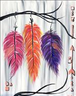 "Double Paint Points! ""Bohemian Feathers"""