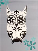 Sugar Skull Owl ~ Choose your colors!