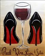 NEW ART by ALEX Red Wine Lips Soles
