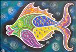 PUBLIC: LARGE CANVAS - FAB FUNKY FISH!