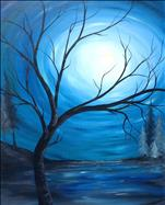 Large 24x36 Canvas! New Art: Moon Rise River