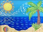 1 Day Registration~KIDS CLASS ~ Beach w/ Van Gogh