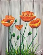 Poppies on a Fence (Personalize Colors!)